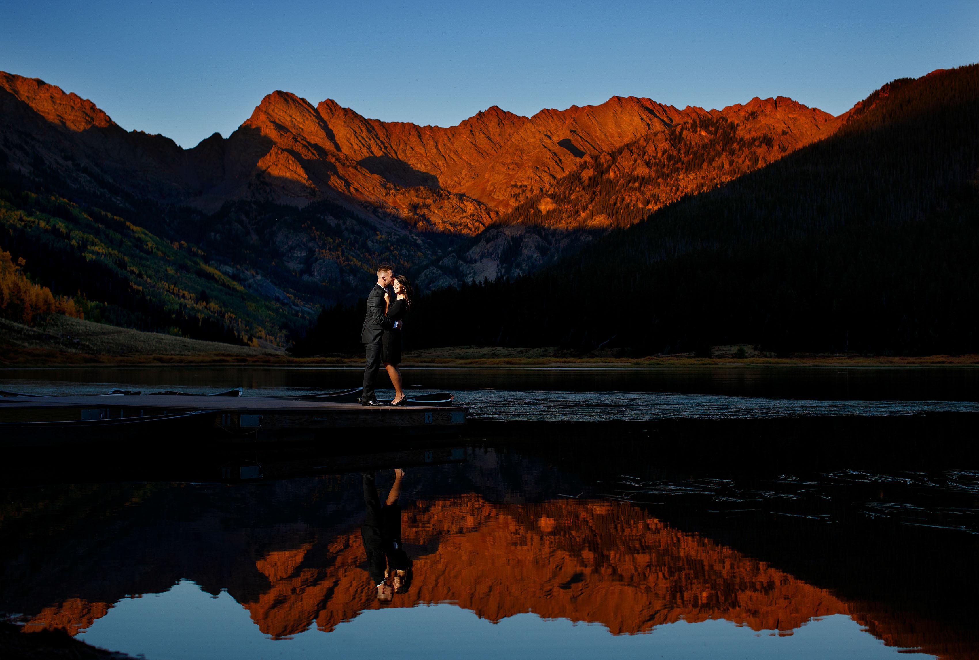 Fall Piney Lake Engagement in Vail | Caroline & Brendan