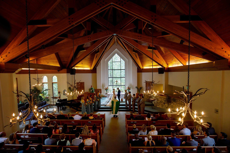 Colorado mountain catholic wedding ceremony at the Chapel at Beaver Creek