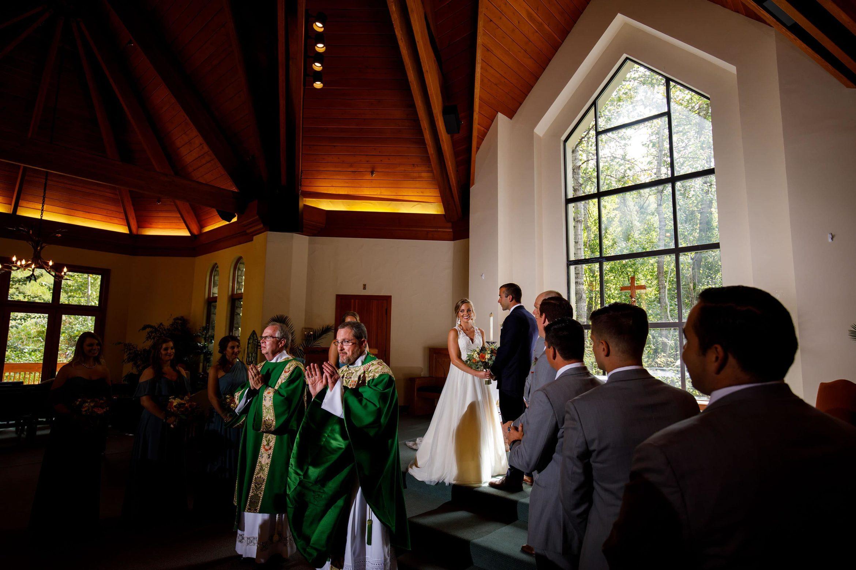 Meghan and Kevin's Colorado mountain catholic wedding at the Chapel at Beaver Creek