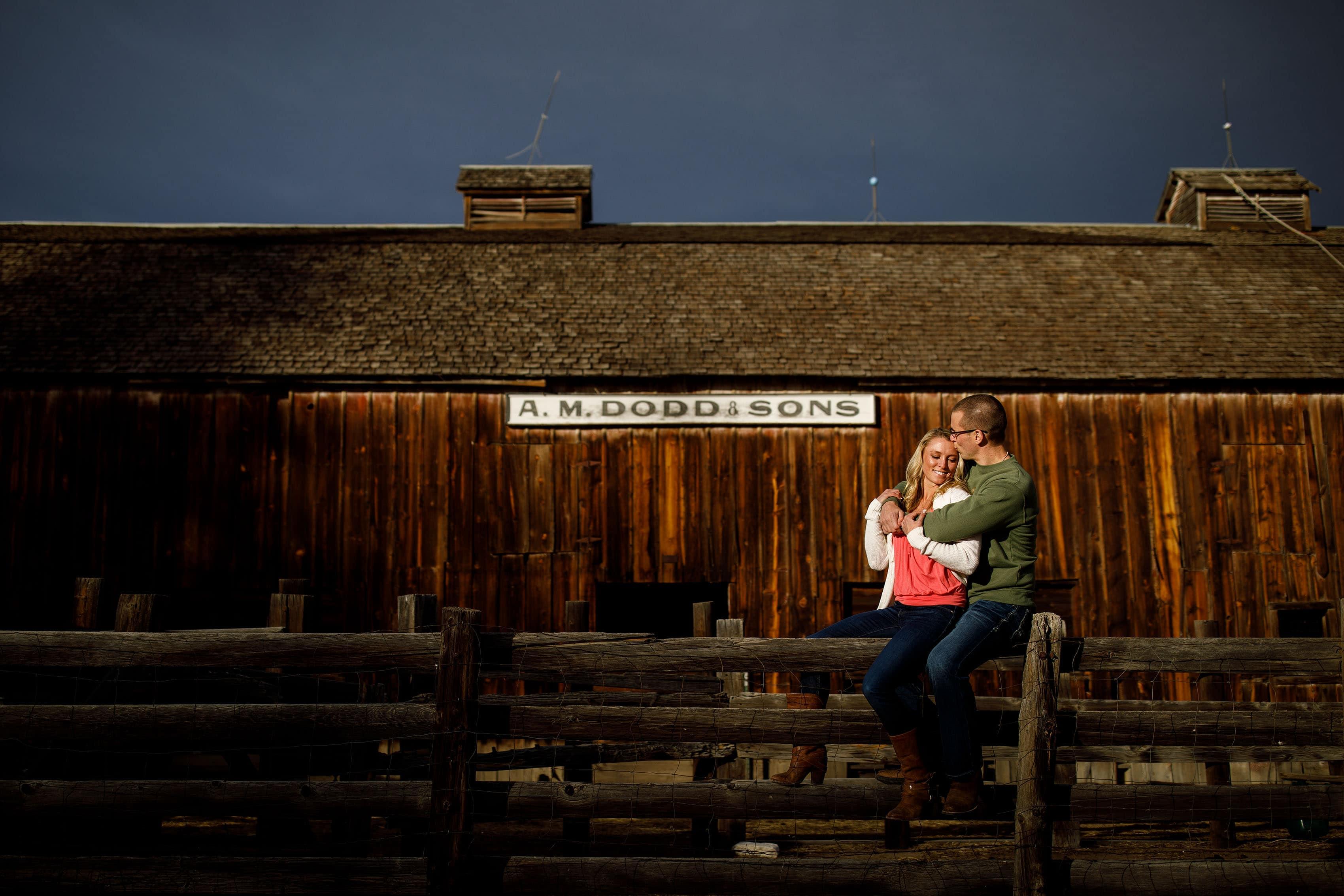 Rustic Barn Engagement | Kinsey & Sam