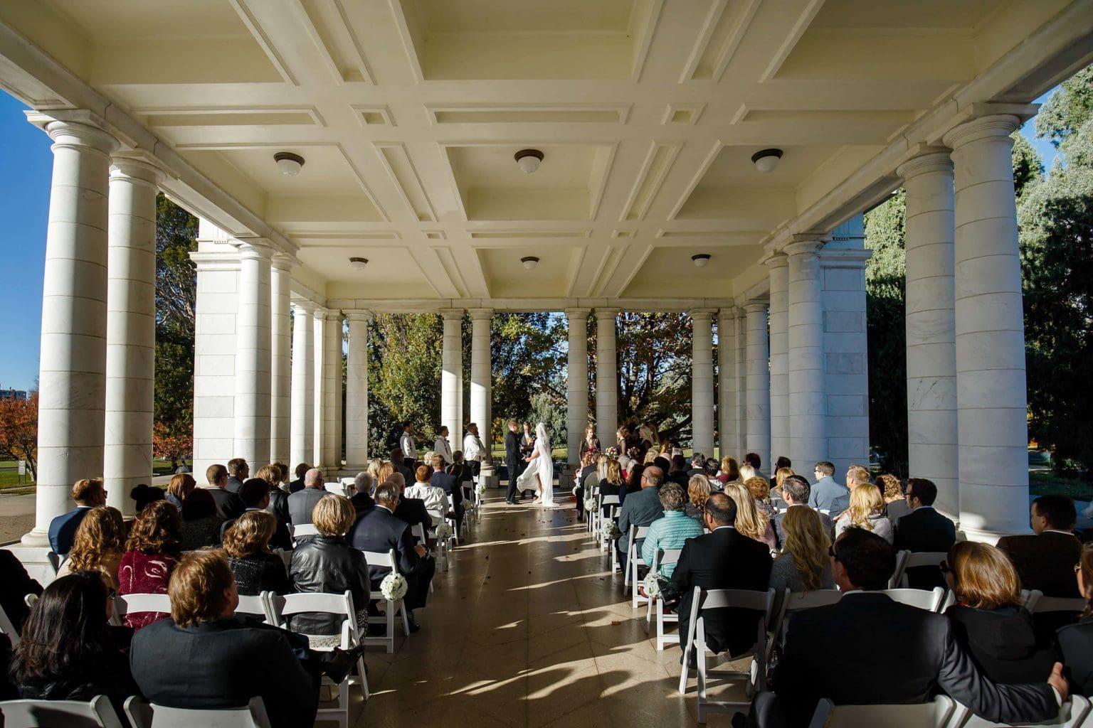 The Pavillion at Cheesman Park wedding ceremony