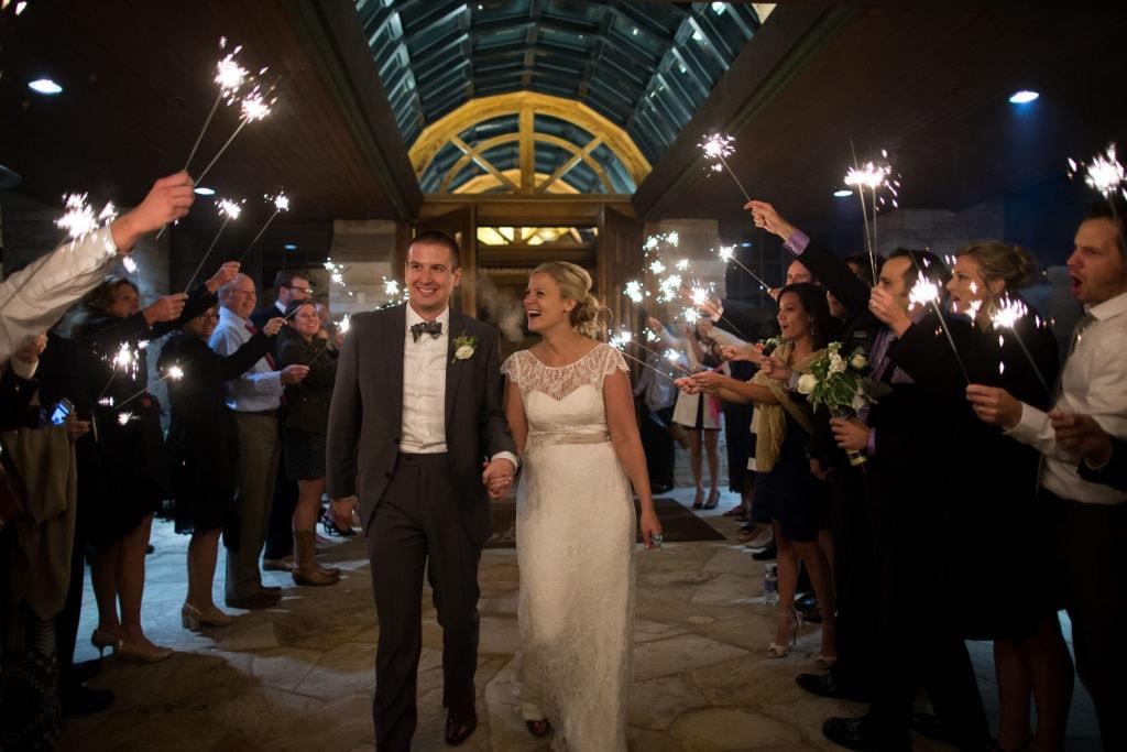 Sparker exit during a Sanctuary Golf Course wedding