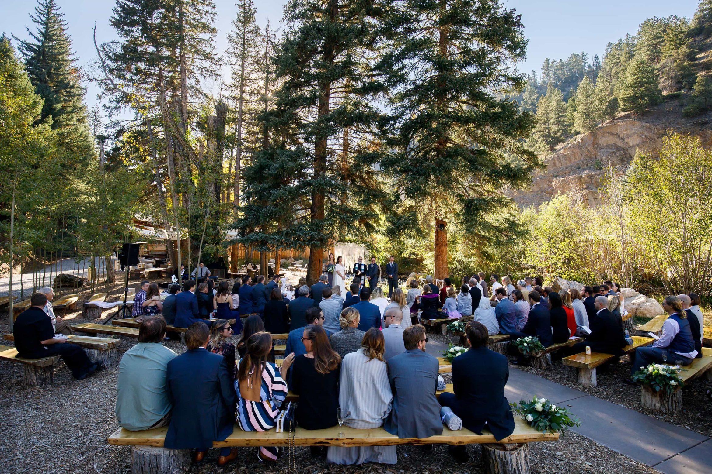 Blackstone Rivers Ranch Wedding ceremony outdoors