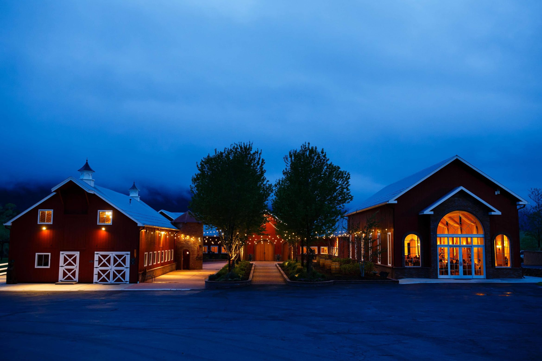 Twilight at Crooked Willow Farms wedding venue in Larkspur, Colorado