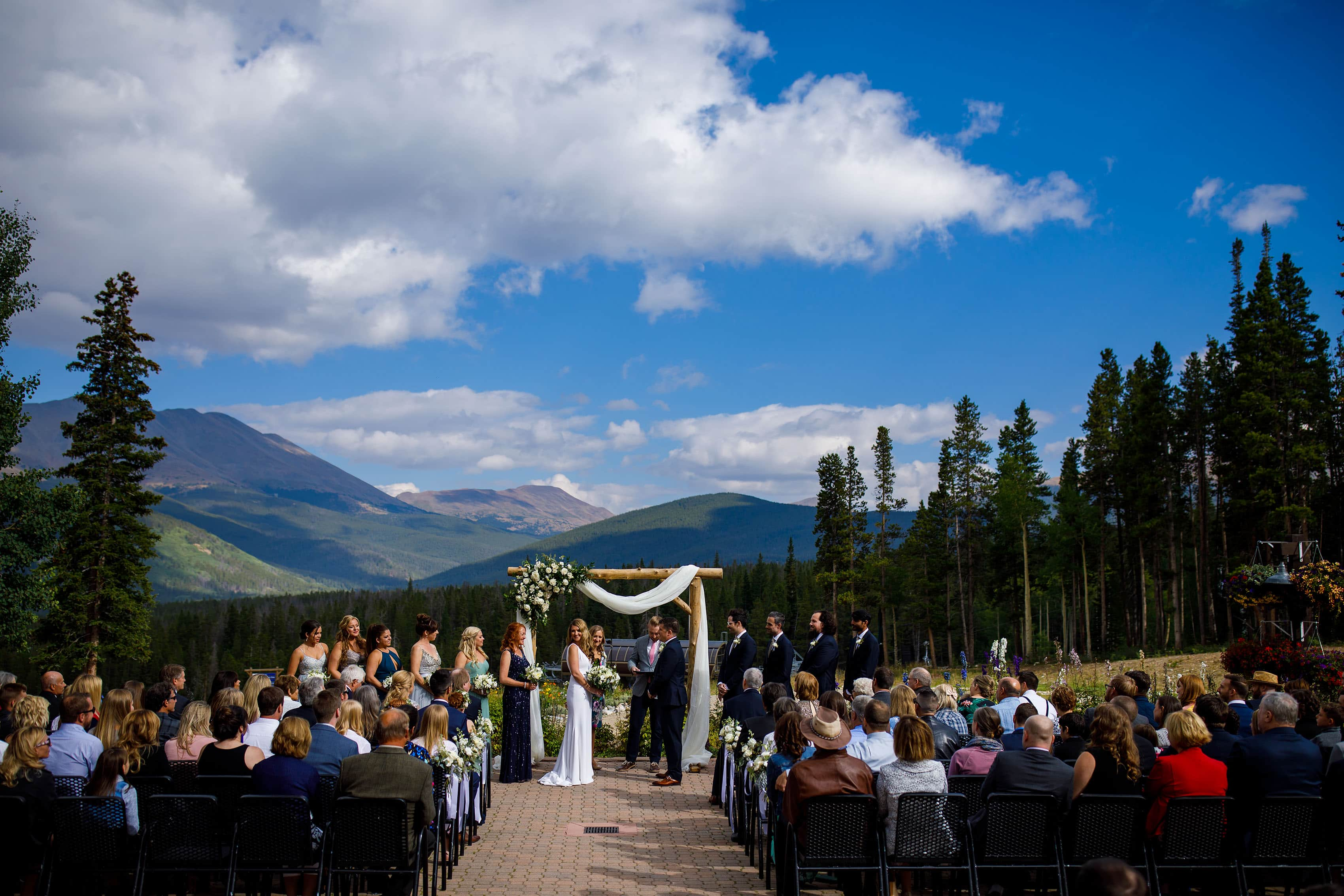 Wedding ceremony at TenMile Station