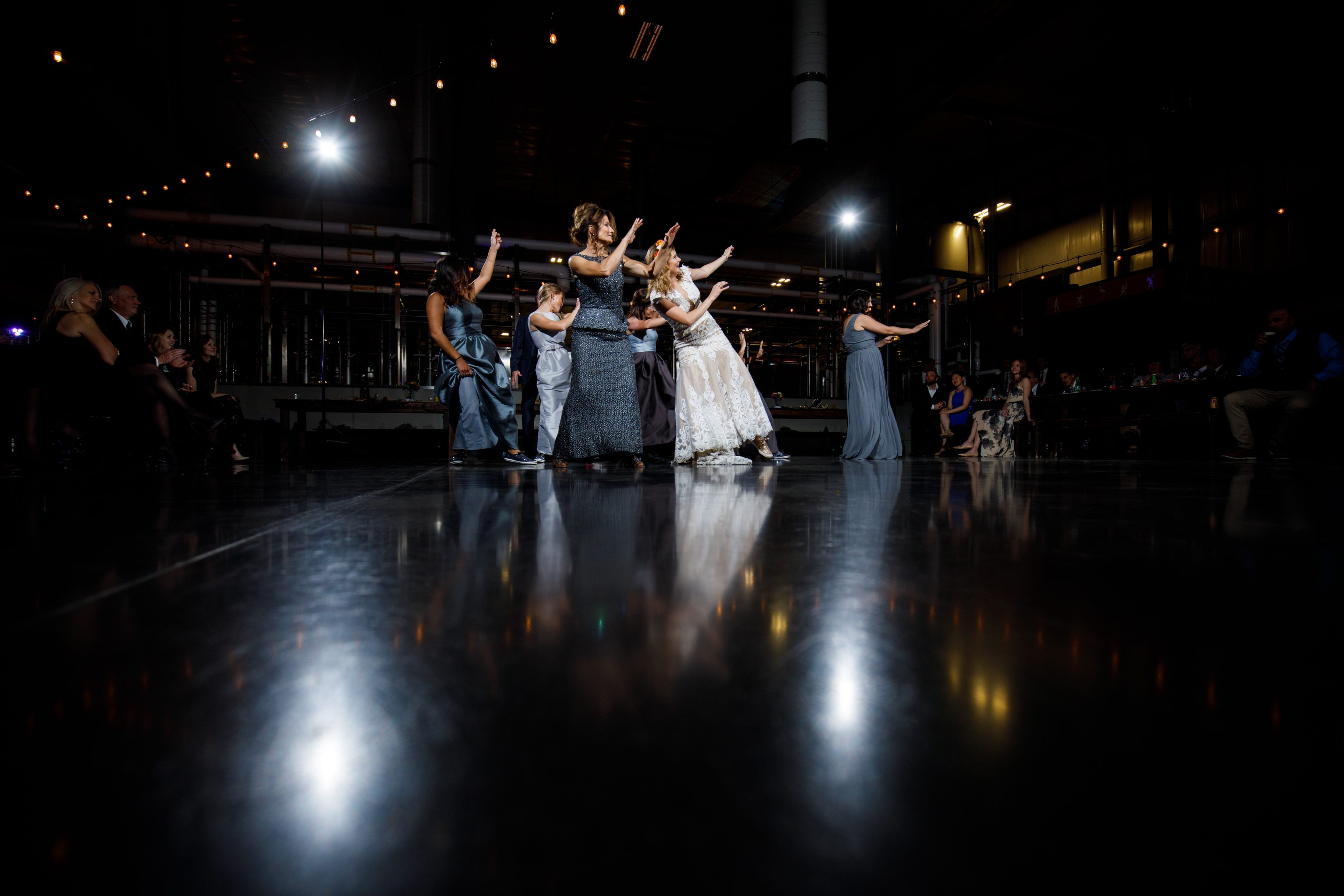 Dancing at a Great Divide Brewery wedding ceremony