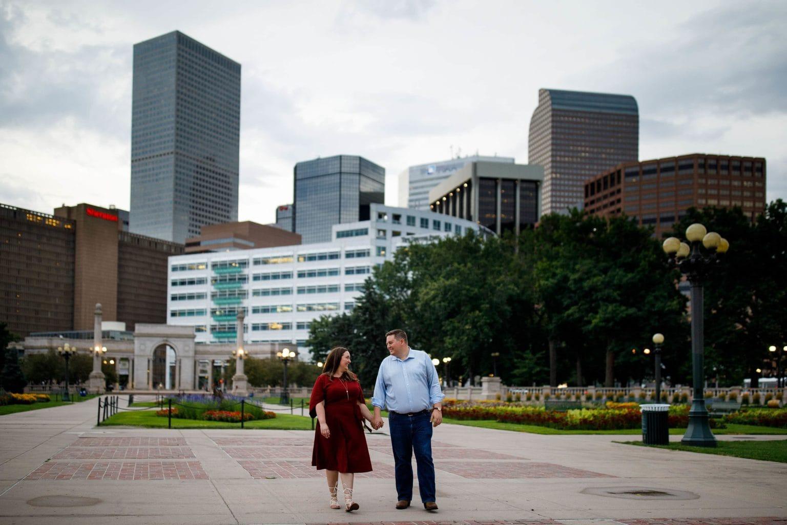 Civic Center Park engagement photos in Denver