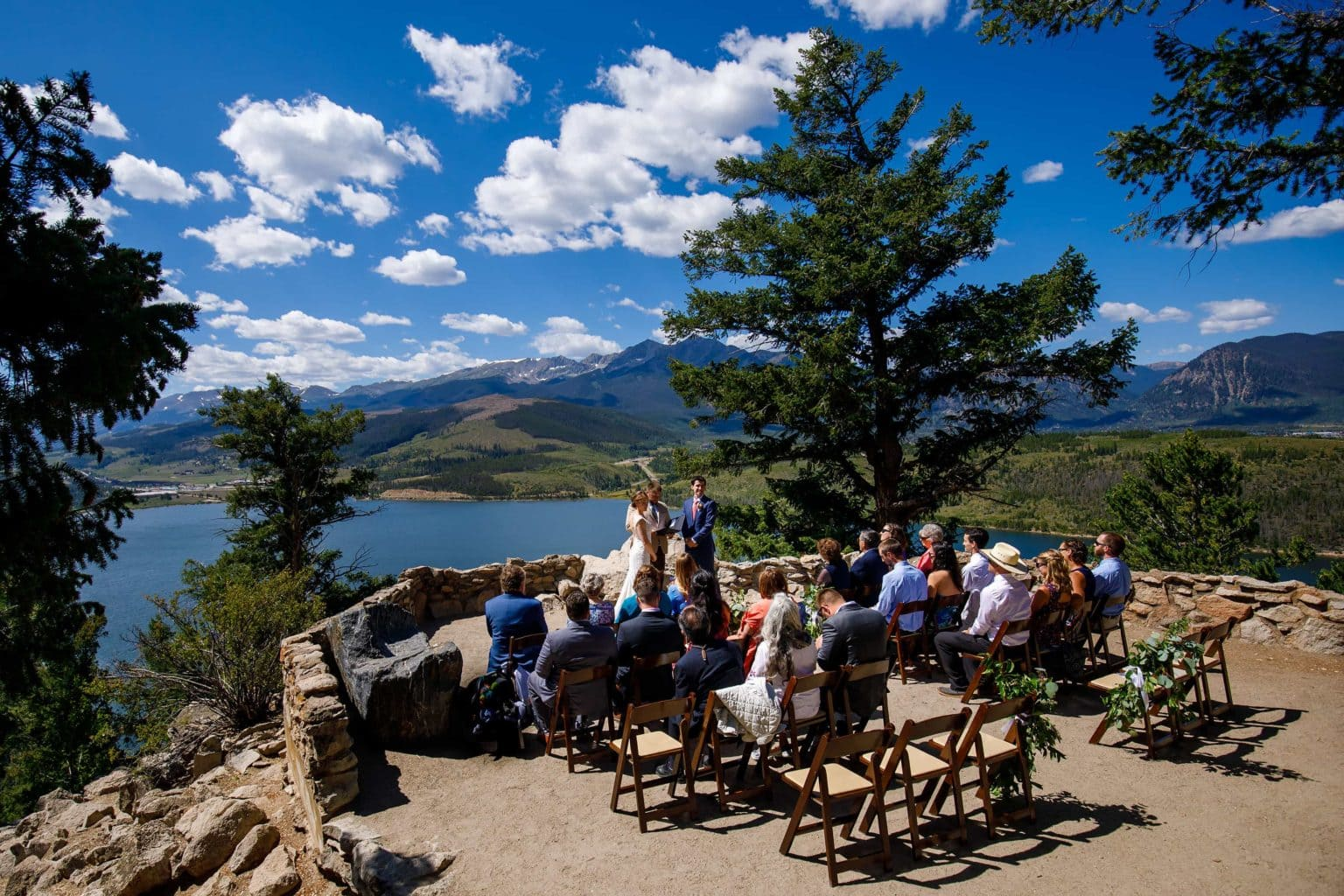 General view of Carissa and Kyle's Sapphire Point wedding