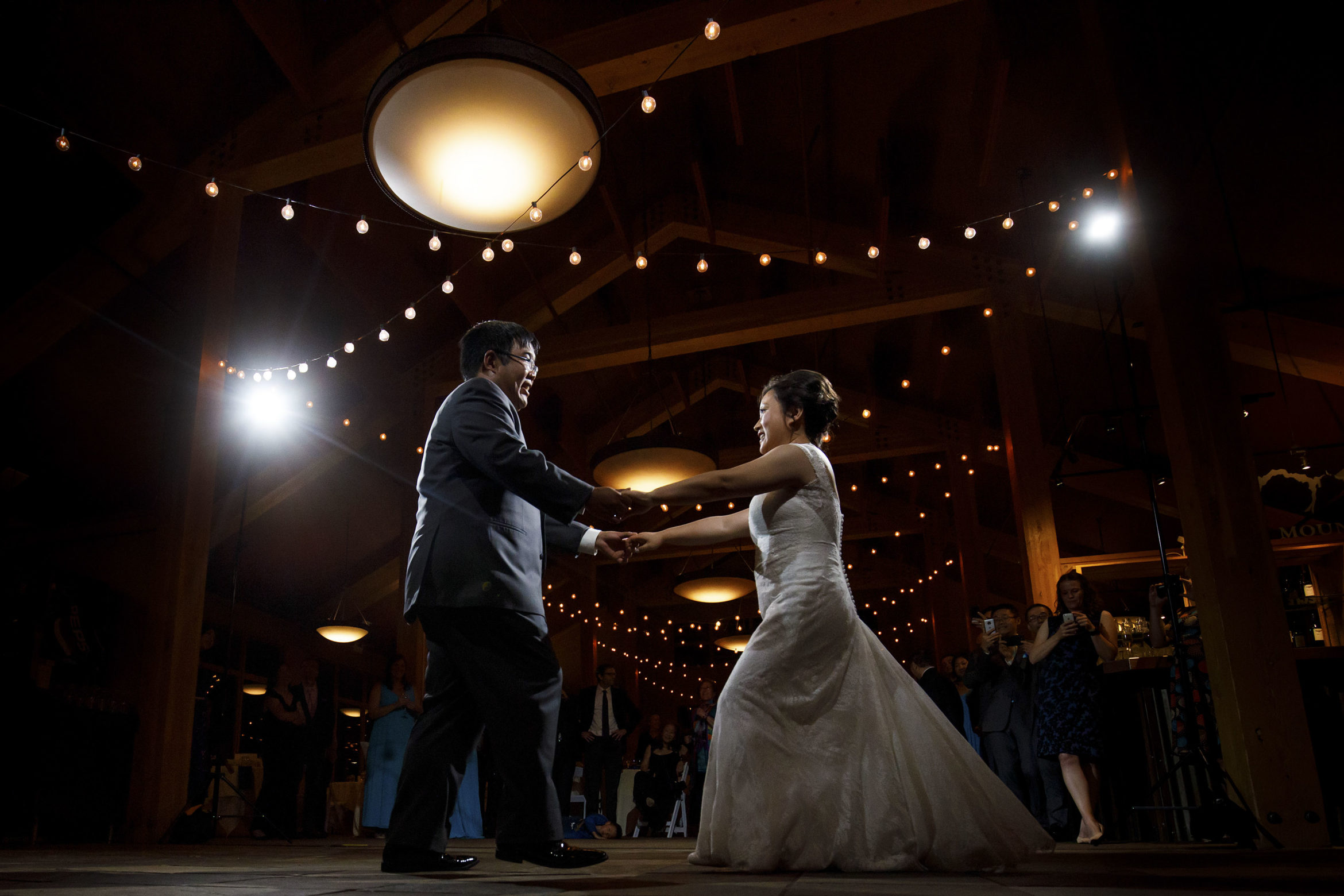 First dance at A basin for David and Xinya