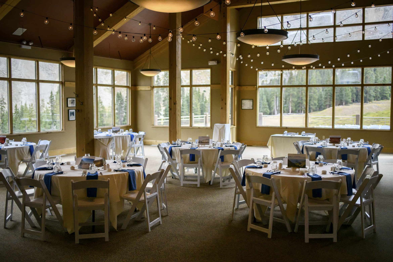 Black Mountain Lodge wedding setup at Arapahoe Basin
