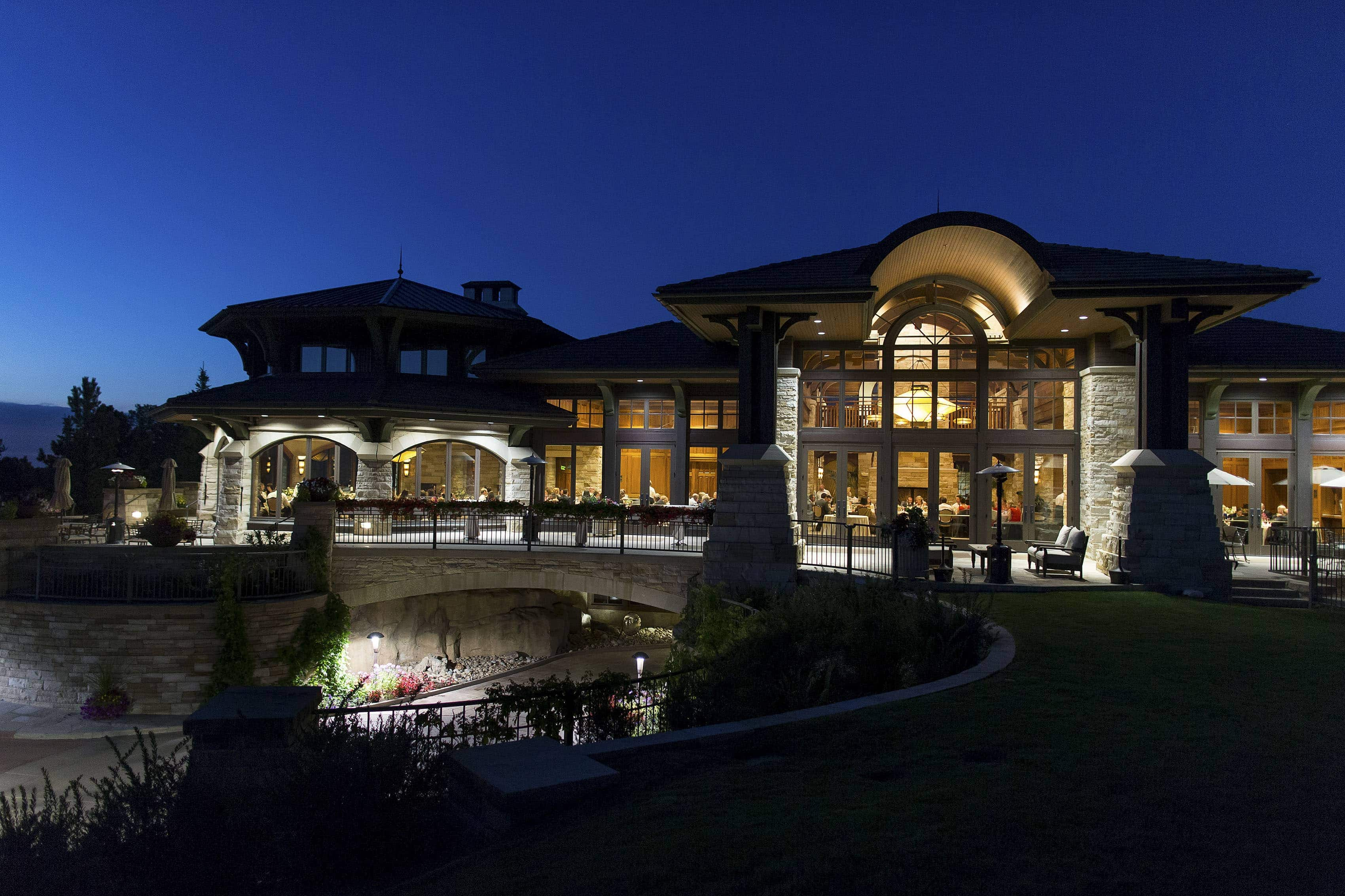 Sanctuary Golf Course wedding at night