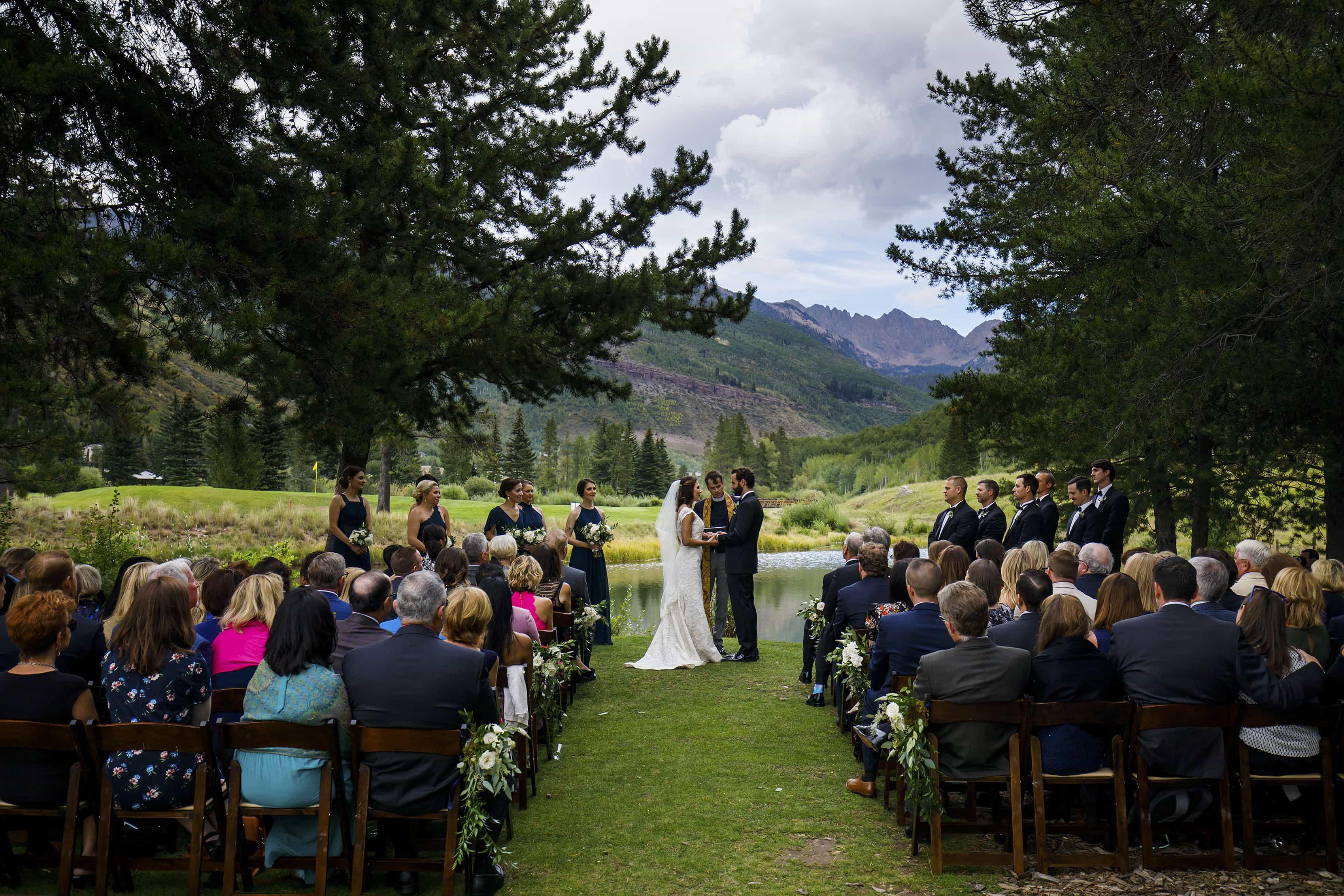 Vail Wedding Island ceremony