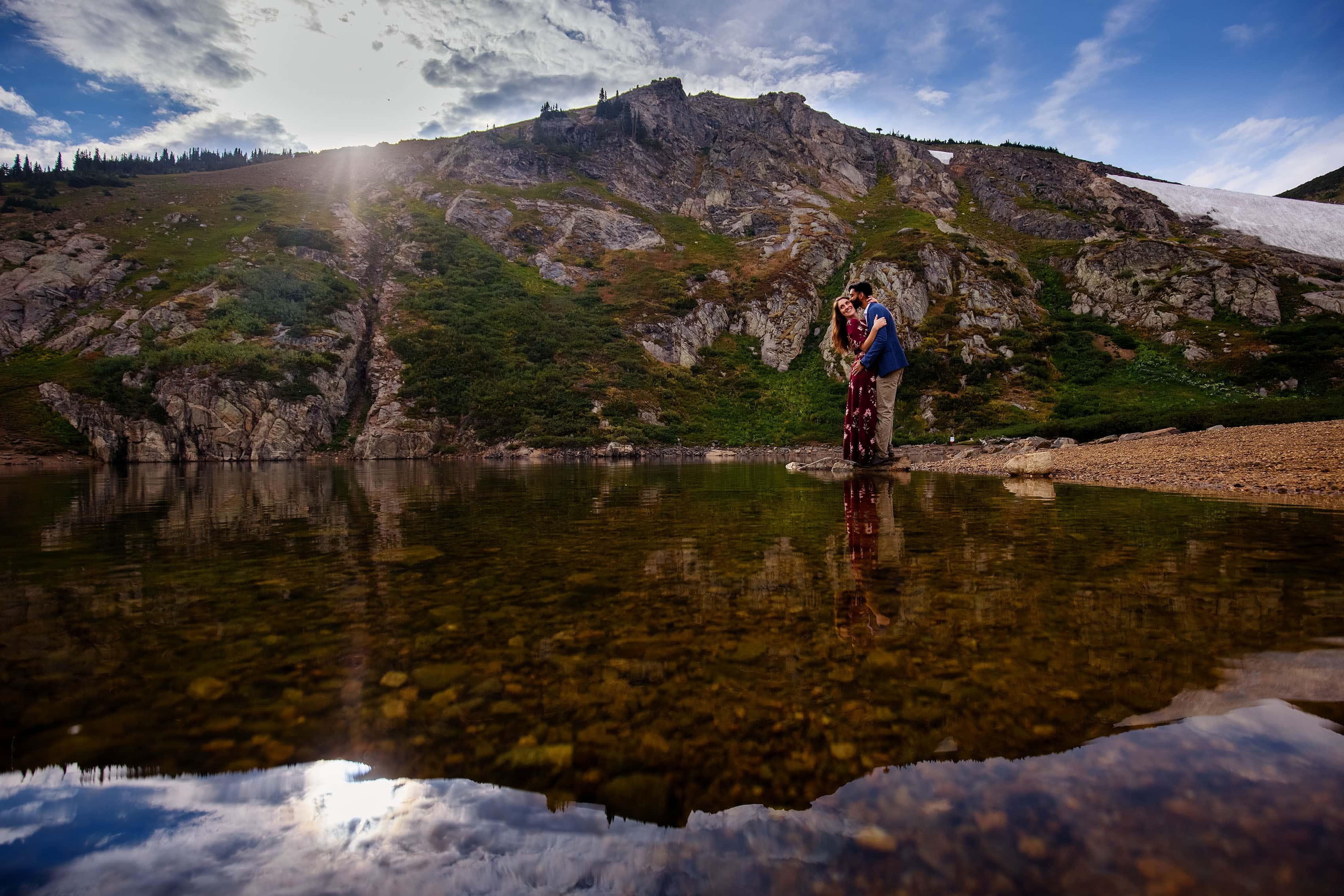 Colorado Mountain Lake Engagement | Kara & Moypa