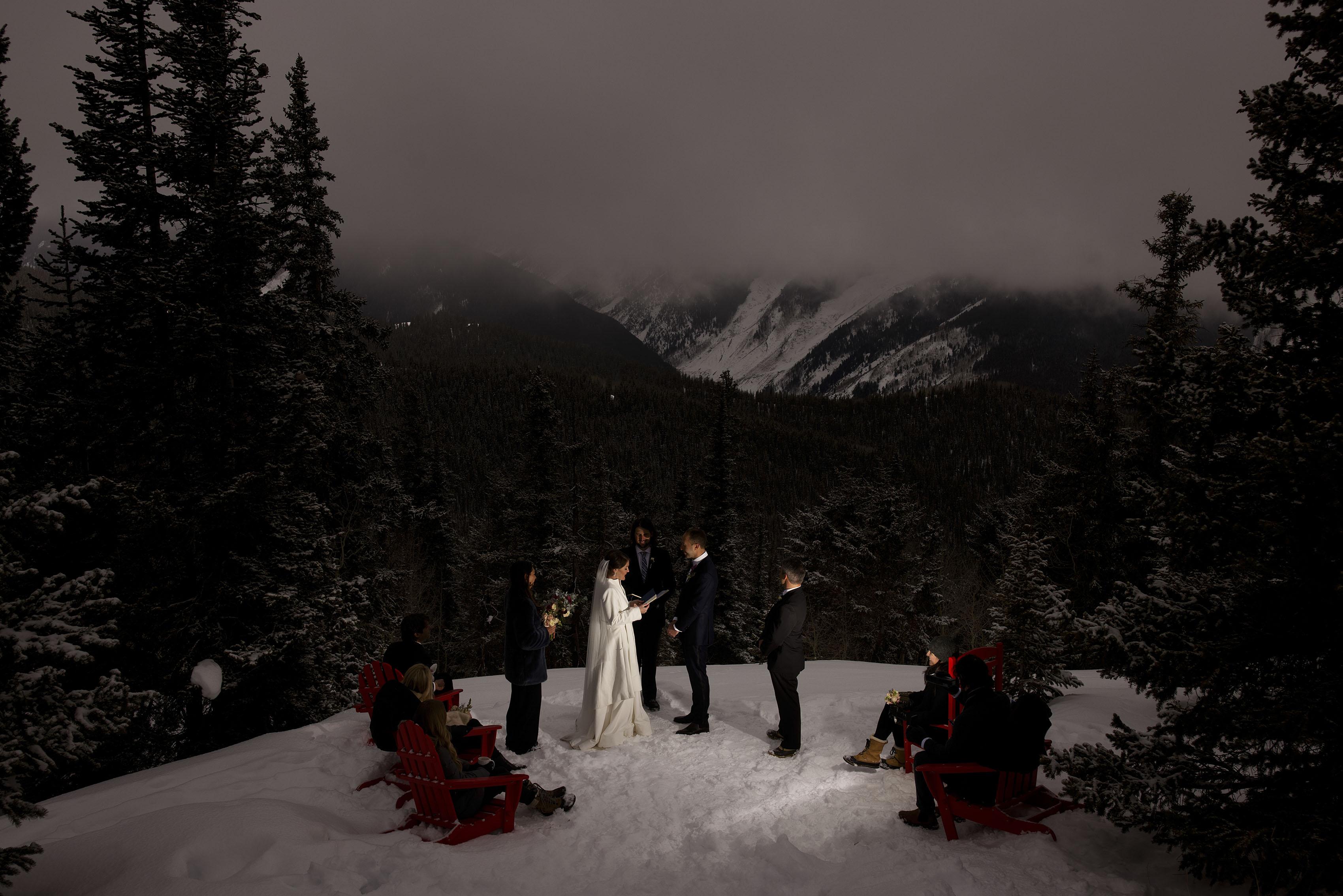 Winter Micro Wedding in Aspen | Olivia & Kyle