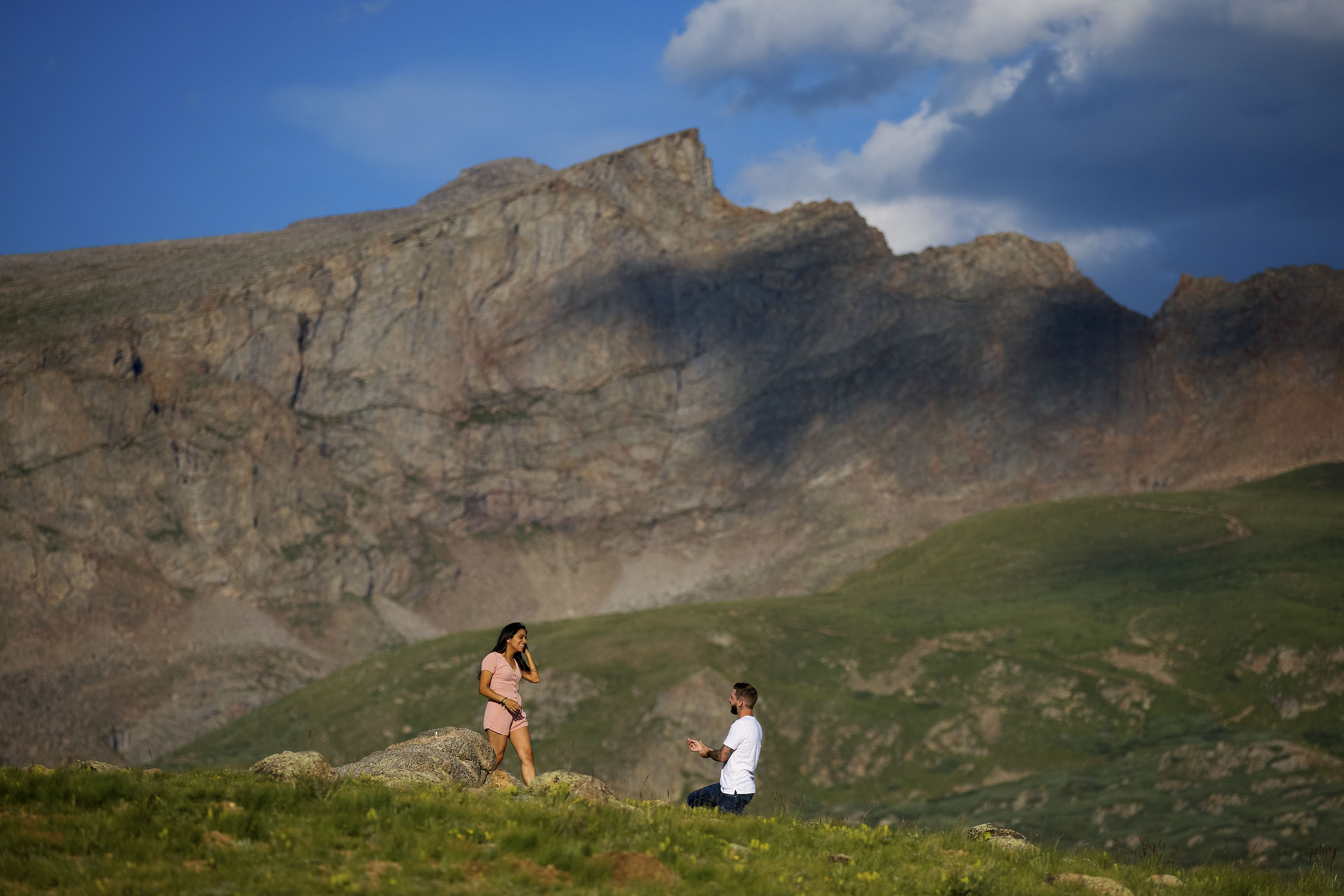 Mountaintop proposal in Colorado   James & Laurie