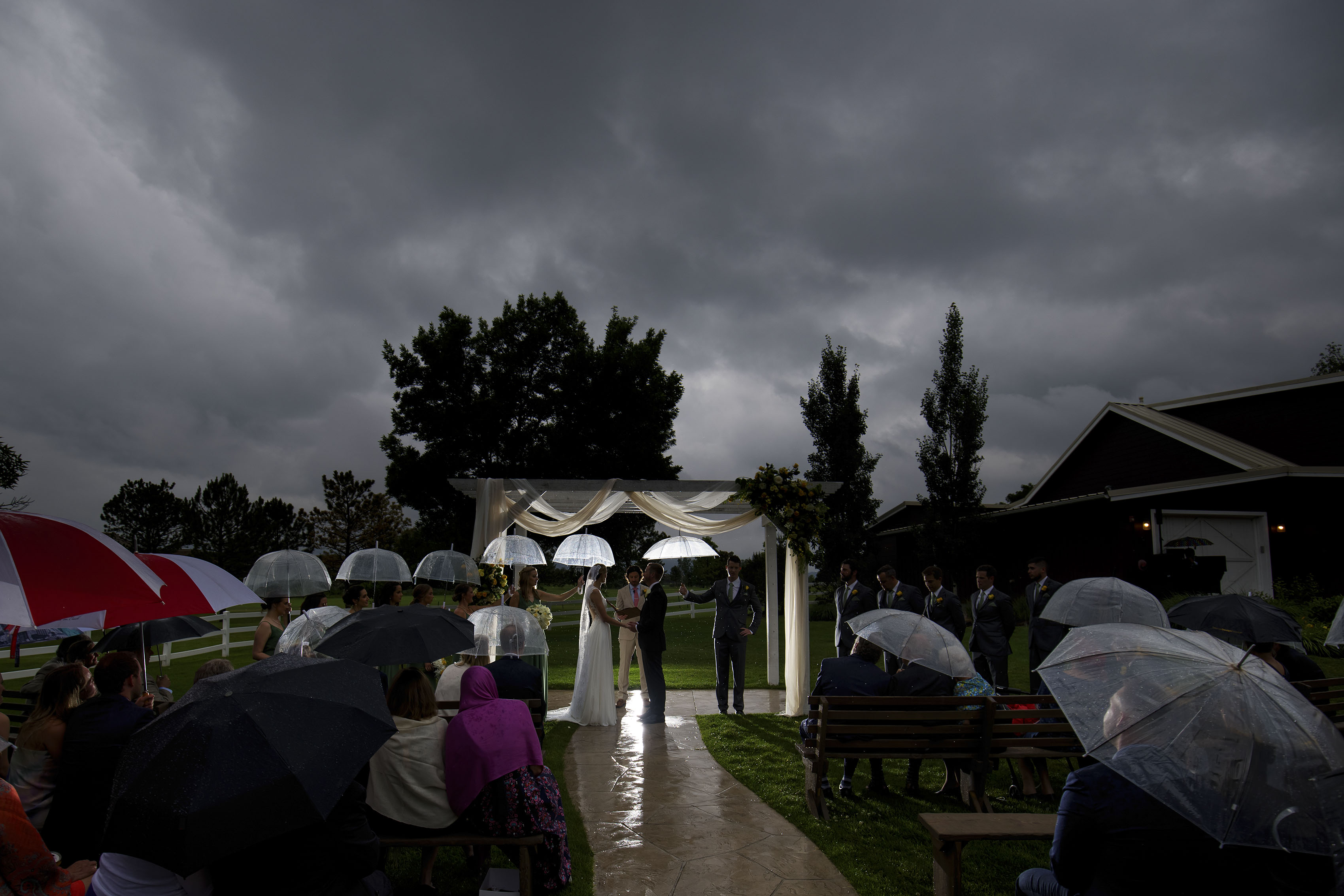 Rainy summer wedding in Littleton | Jennifer and Stefan