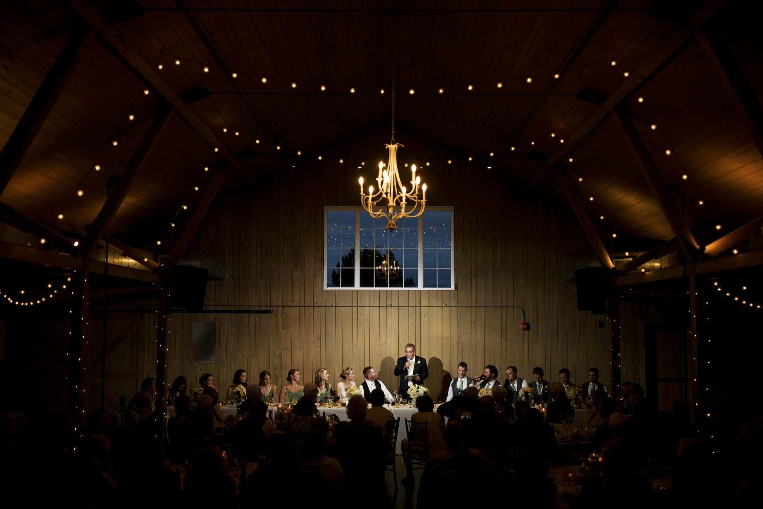wedding toast at the barn at raccoon creek