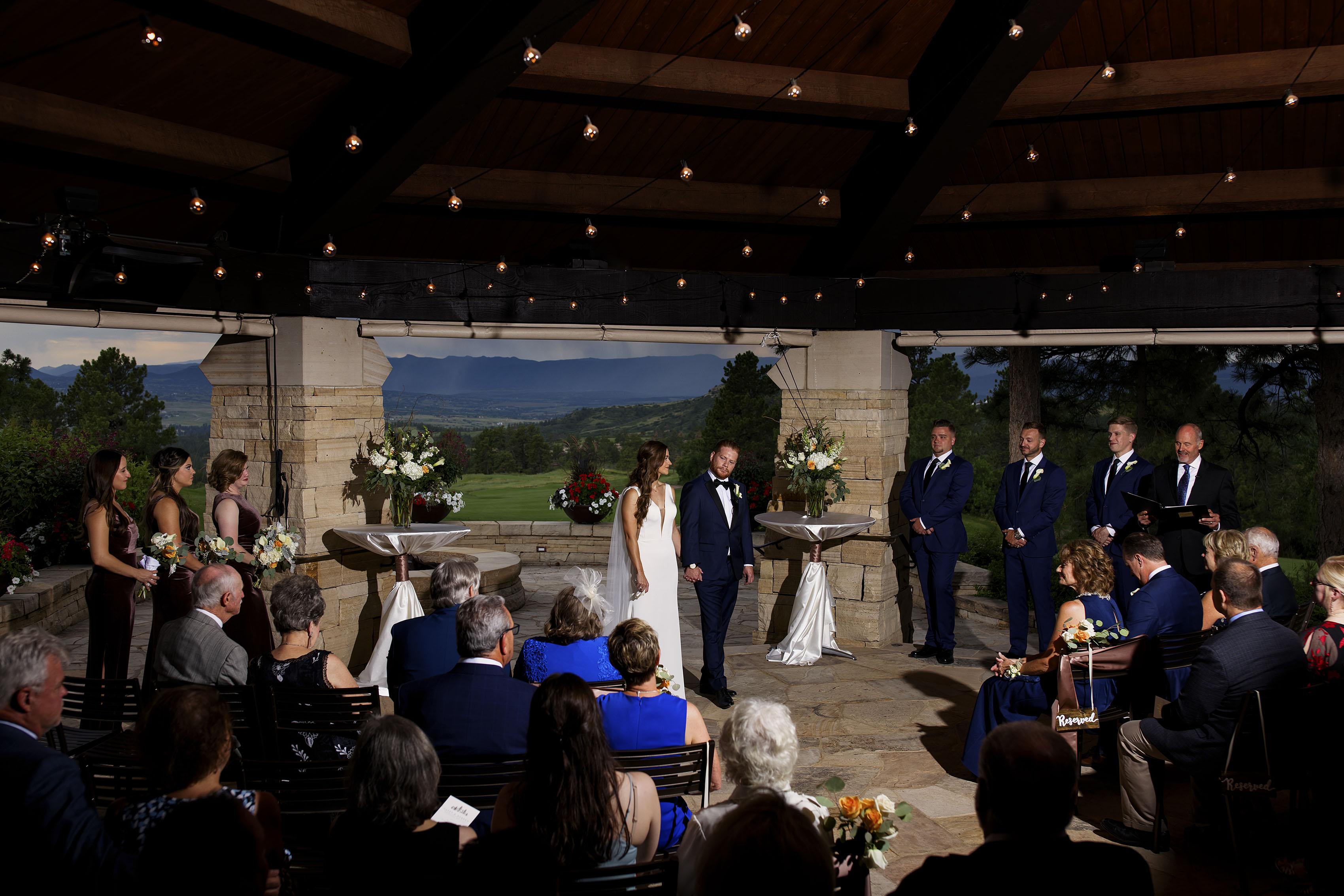 Wedding ceremony at the Sanctuary pavillion