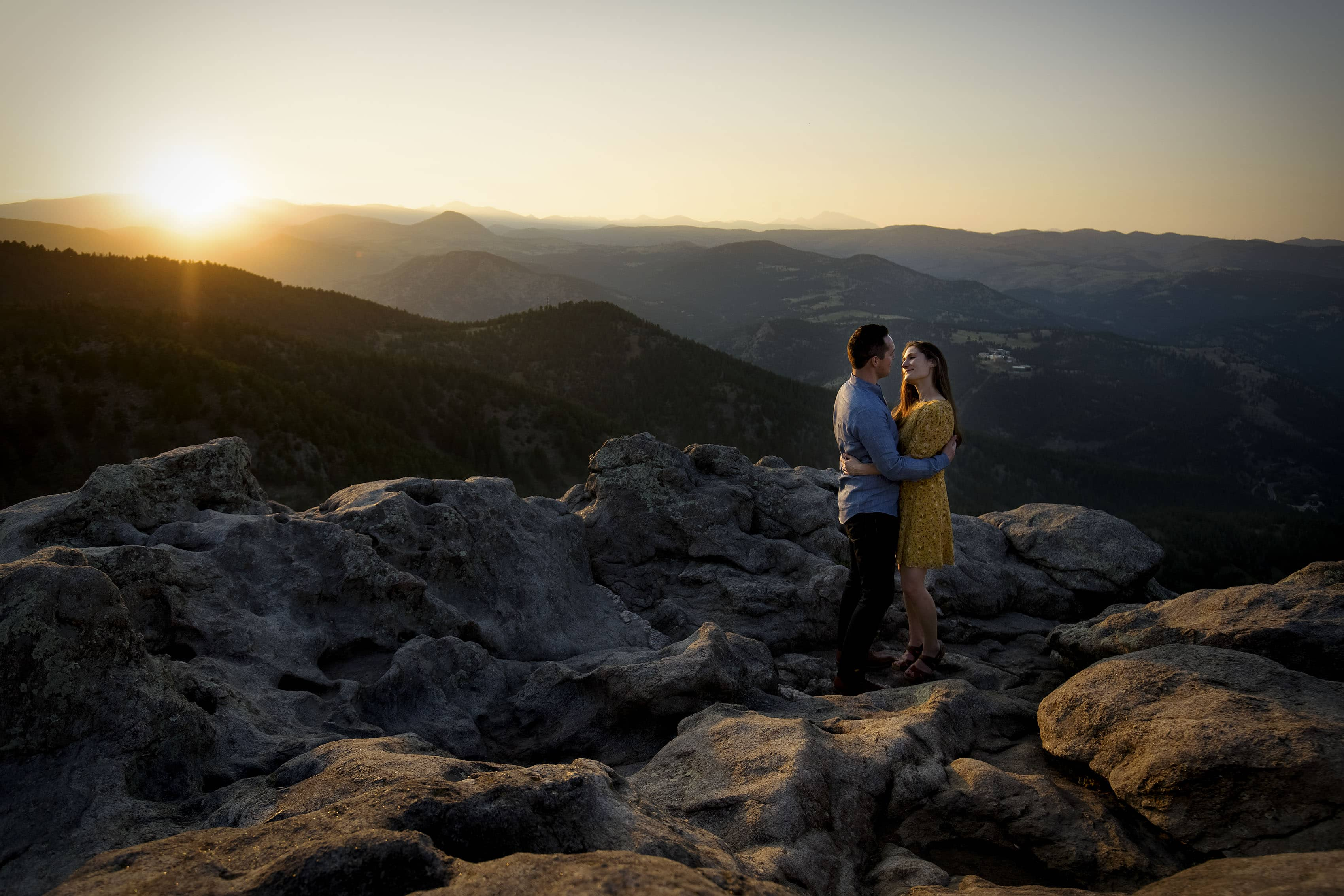Mountain Views Engagement in Boulder   Melanie and Colin